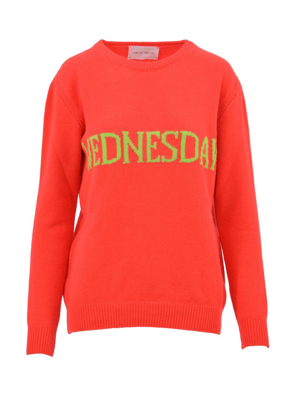 Alberta Ferretti Orange Wednesday Sweater