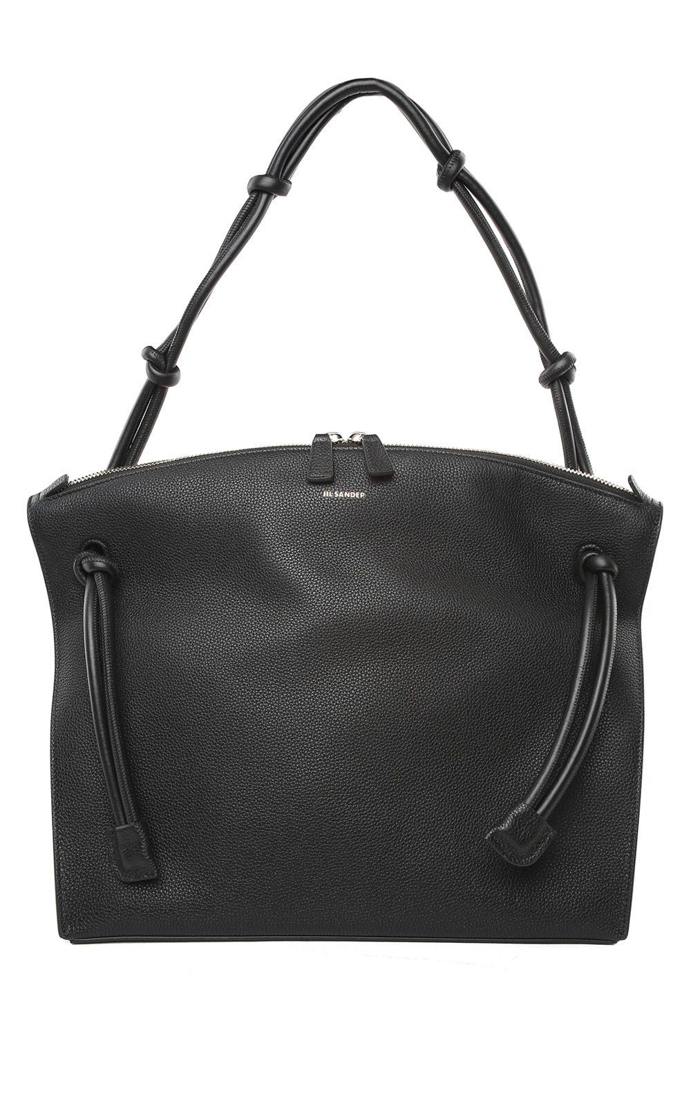 Jil Sander Hill Md Grained-leather Tote Bag