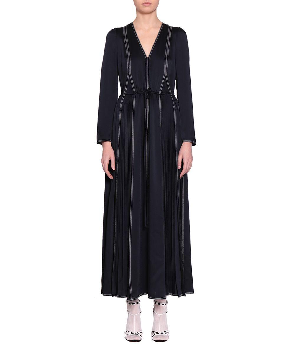 Valentino Hammered Satin Dress