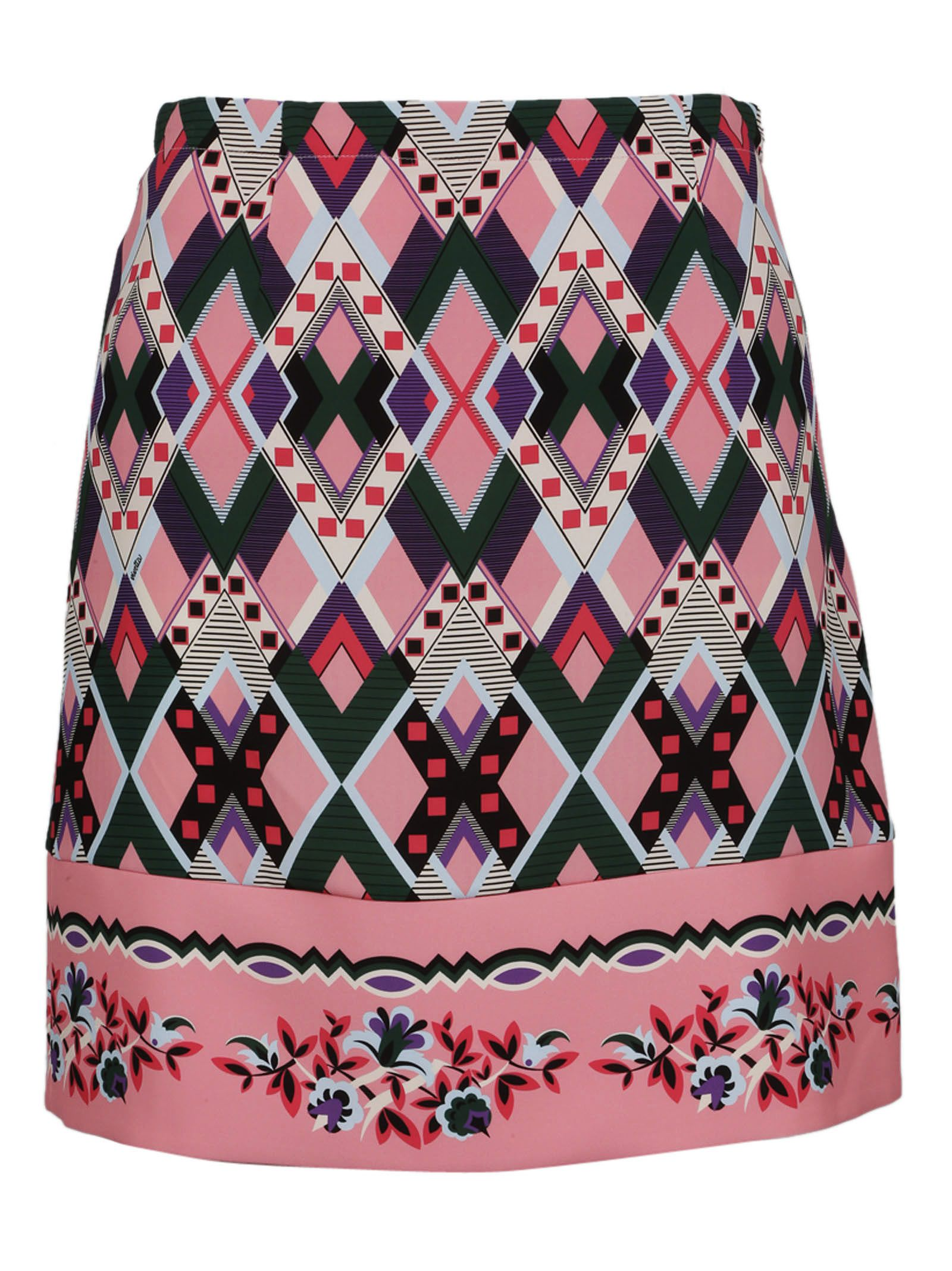 Vivetta Embroidered Fitted Skirt