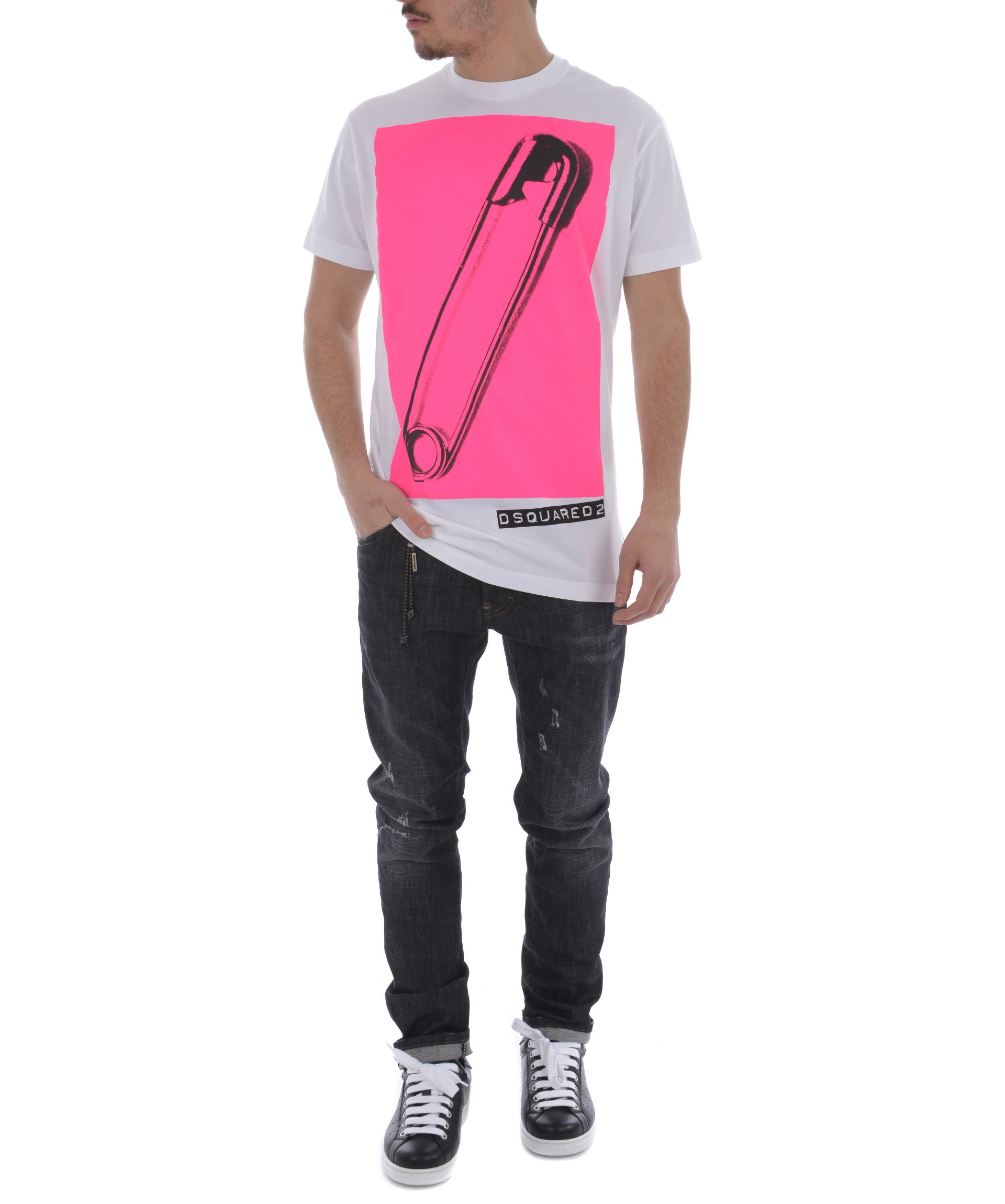Dsquared2 Safety Pin Print T-shirt