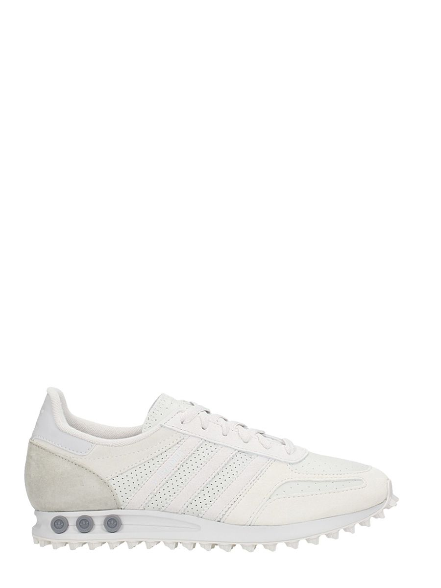 Adidas La Trainer White Leather Sneakers