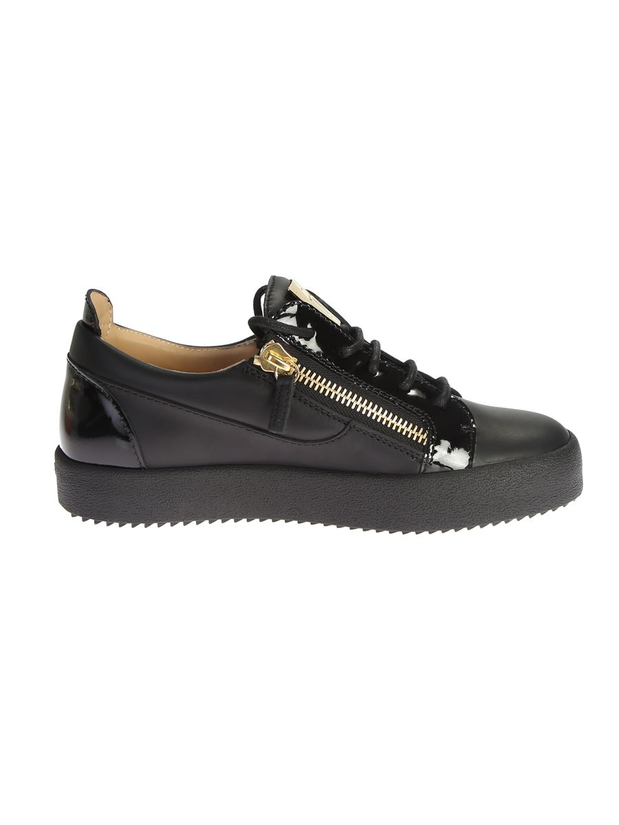 Leather Sneaker With Metal Details