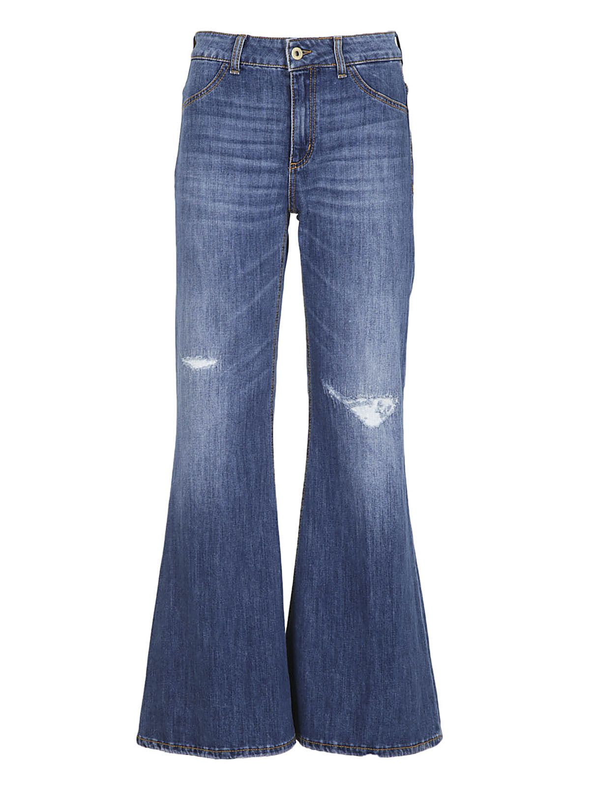 Dondup Flared Distressed Jeans