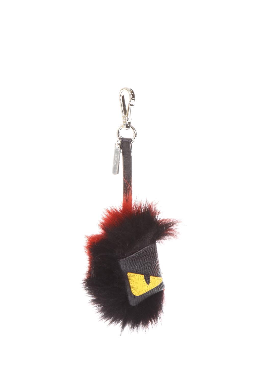 Fendi Bag Bug Fur & Leather Charm