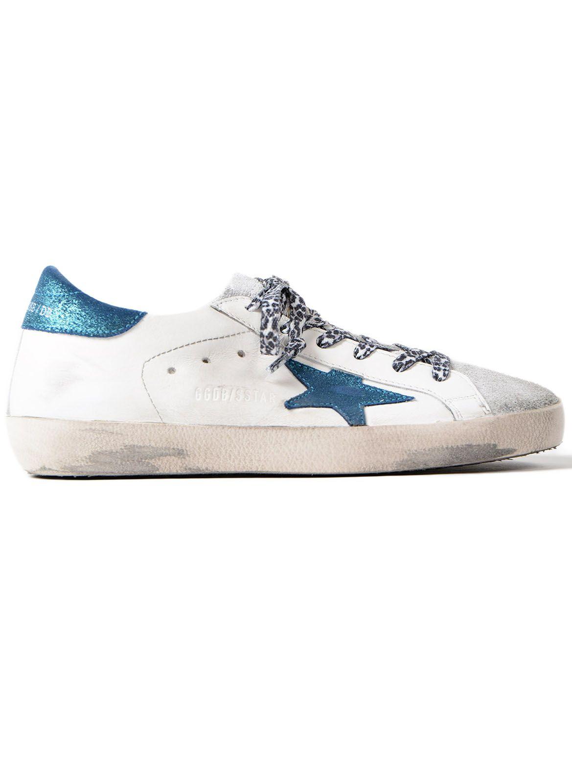 Golden Goose Sneakers Superstar Metal Blue Star