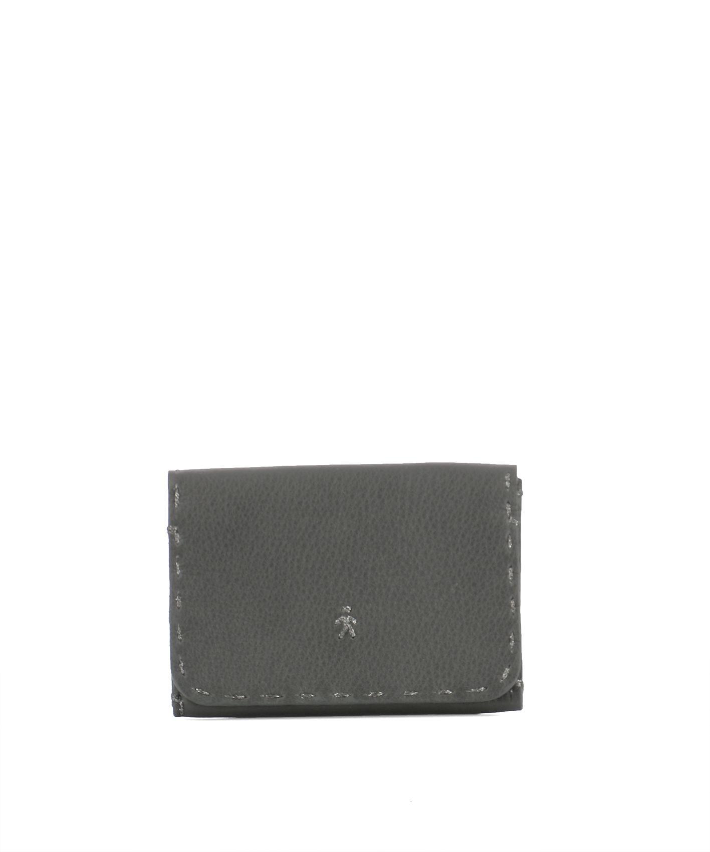 Grey Leather Card Holder