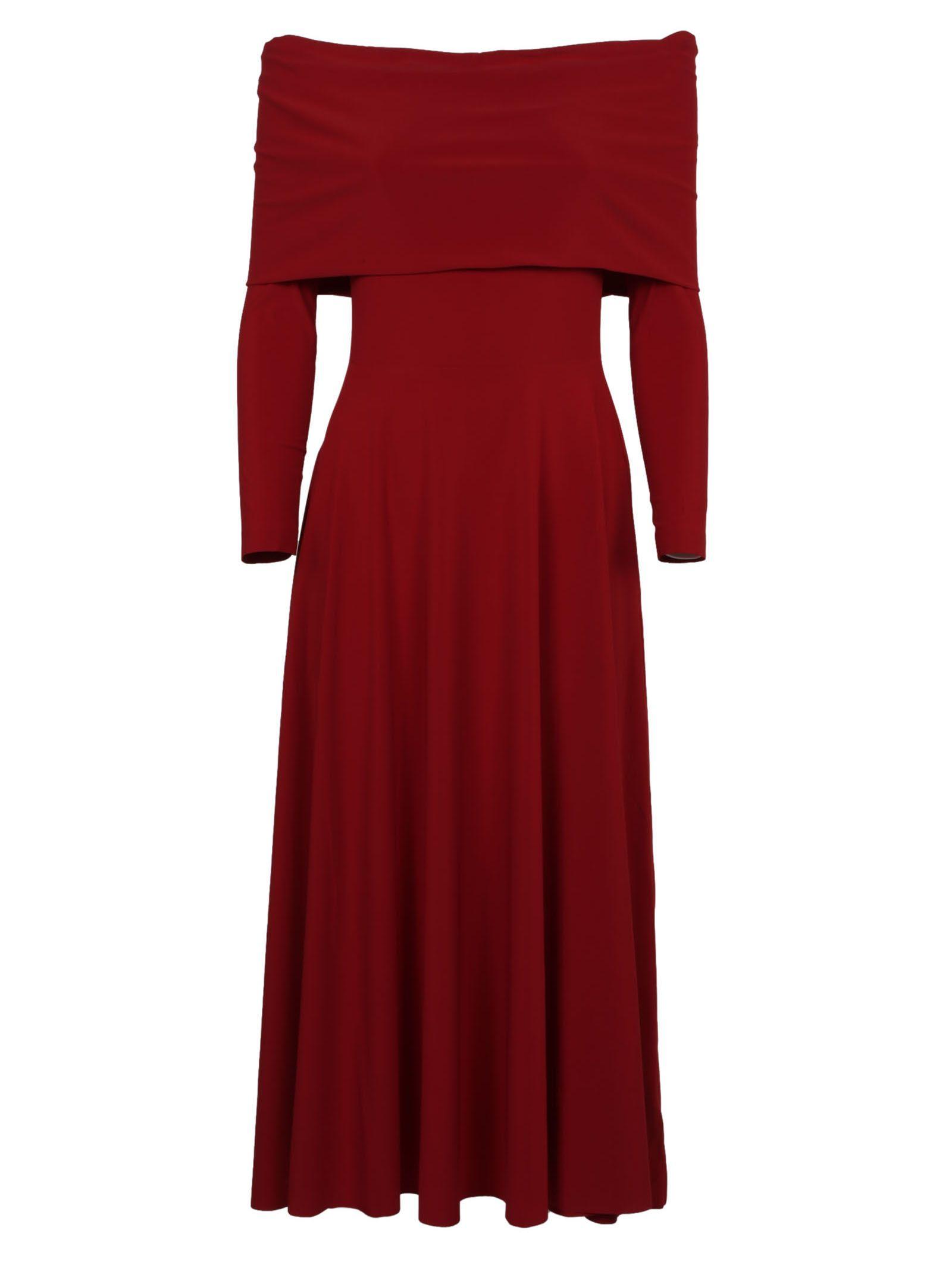 Norma Kamali Cowl Neck Flared Dress