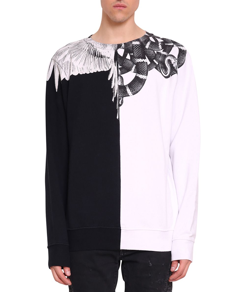 Marcelo Burlon Snake Wing Cotton Sweatshirt
