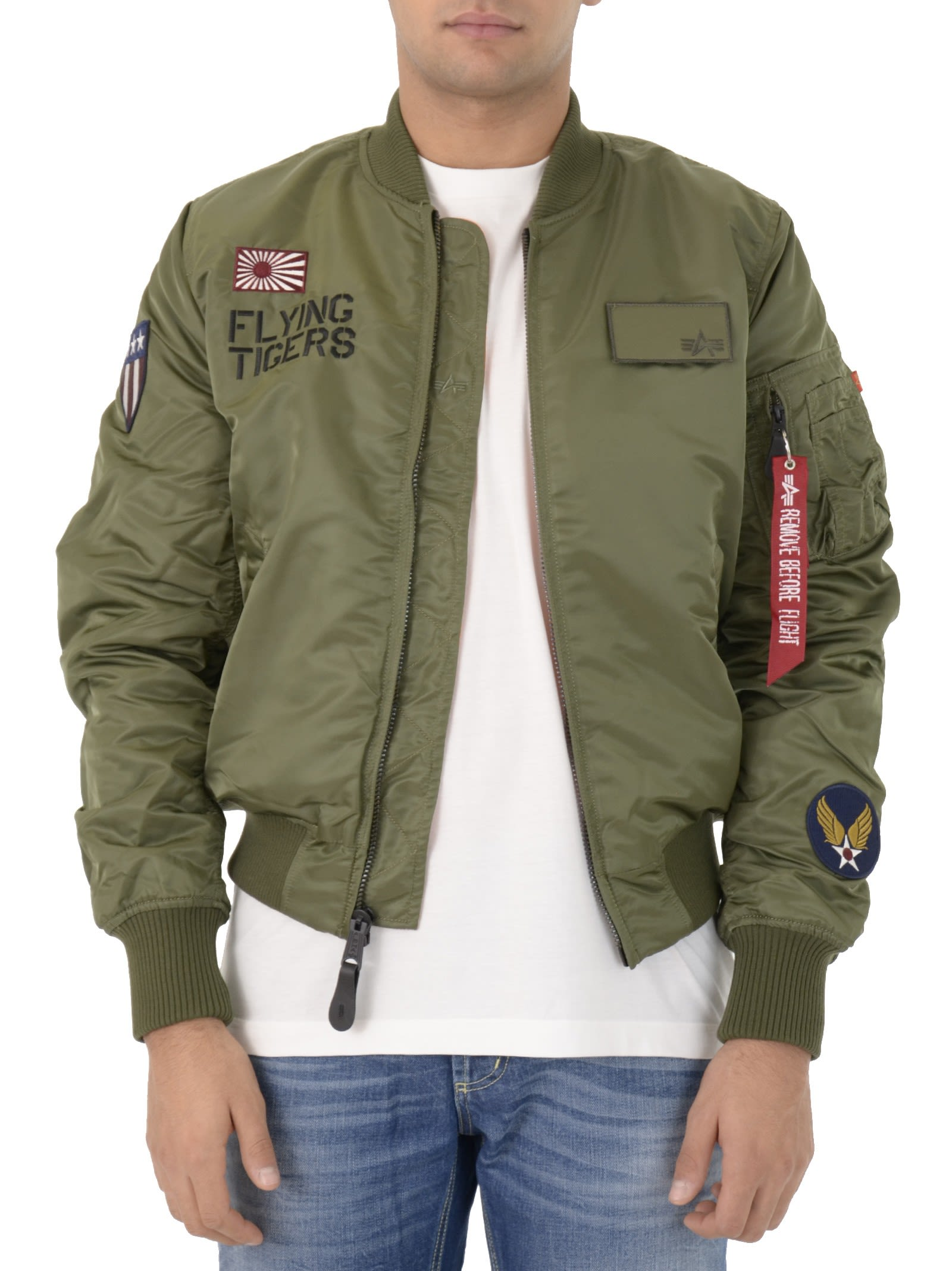 Alpha Industries Sage Green Flying Tigers Jacket