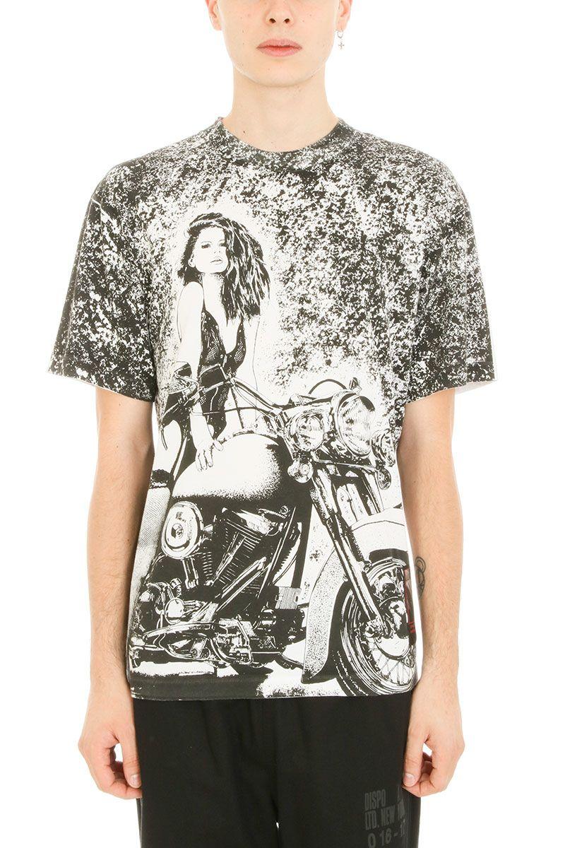 Alexander Wang Slow & Steady Patch White Black Cotton T-shirt
