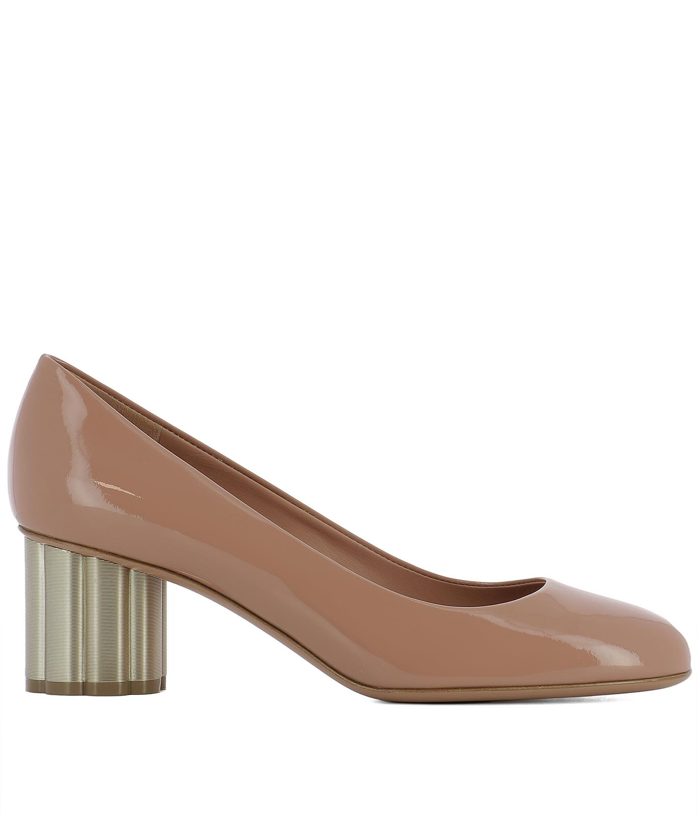 Pink Leather Lucca 55 Pumps