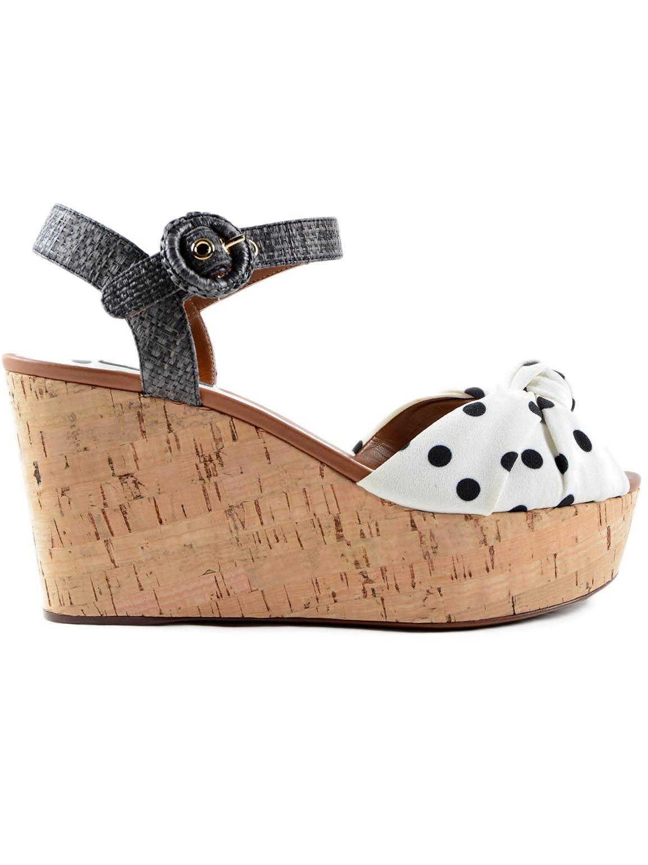 Dolce & Gabbana Dolce & Gabbana Polka Dot Wedge Sandals