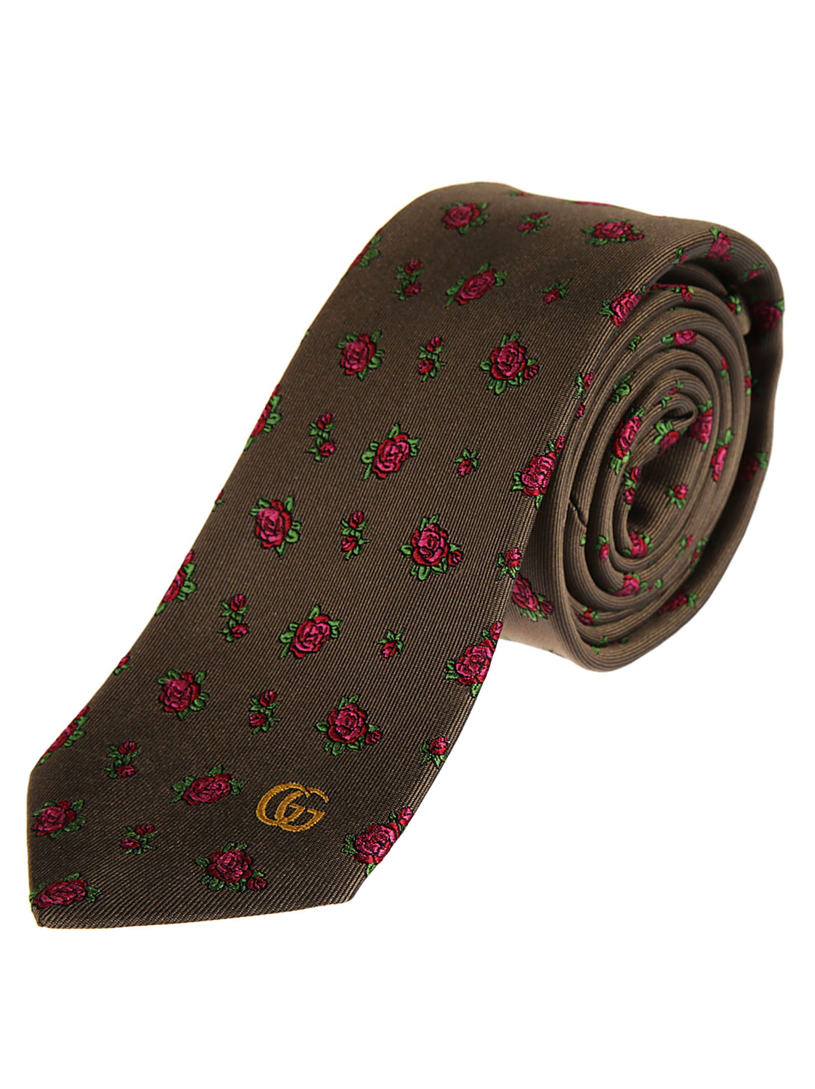 Gucci Rose Pattern Tie