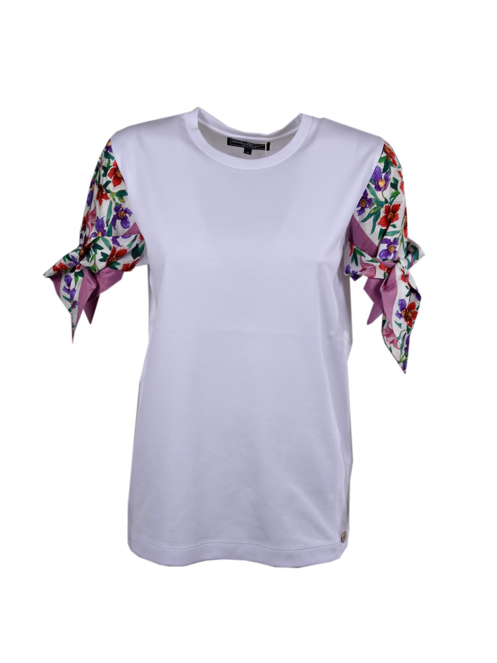 Salvatore Ferragamo T-shirt Sleeve Bouquet Print