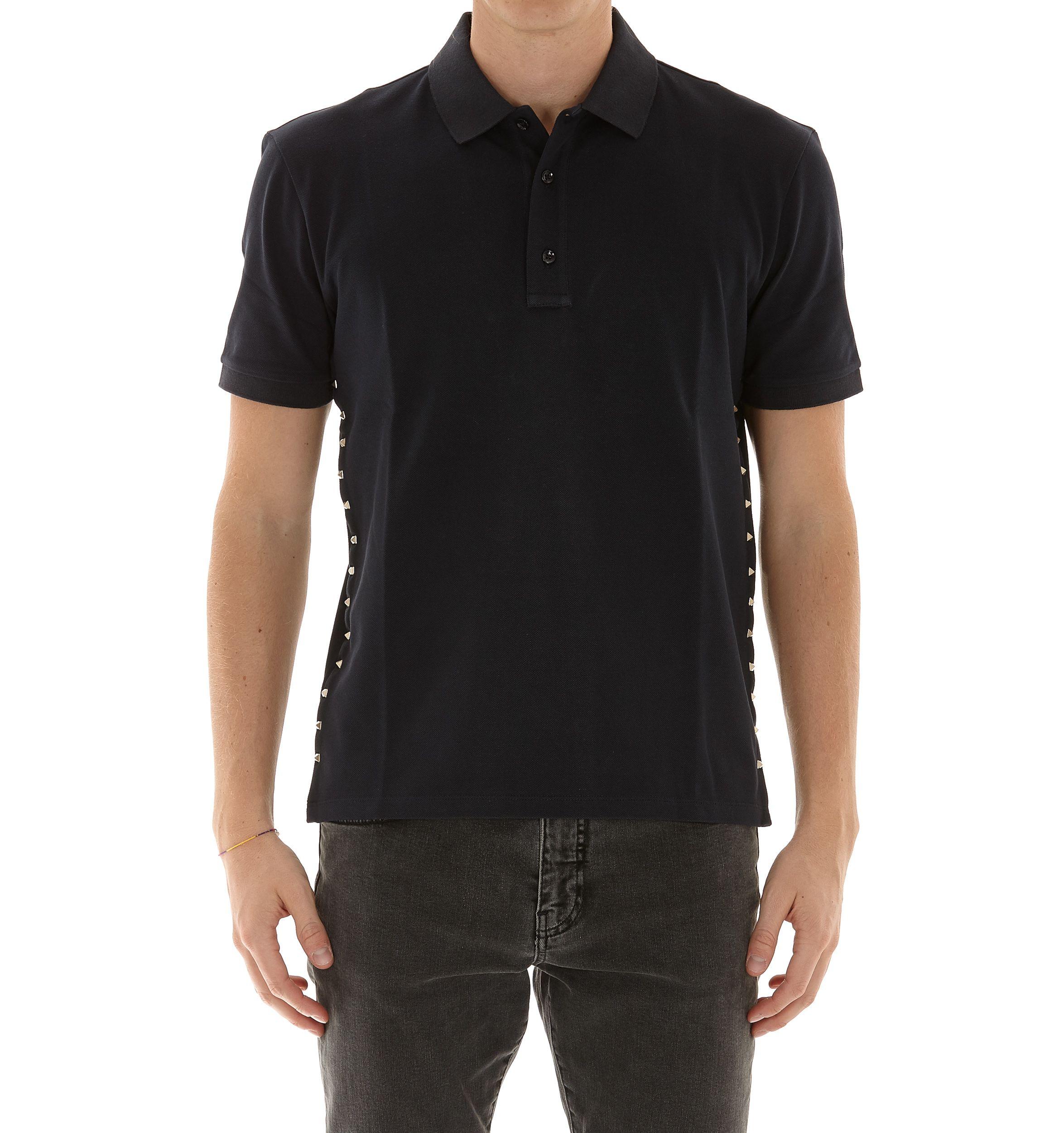 Valentino Rockstud Untitled Polo Tshirt