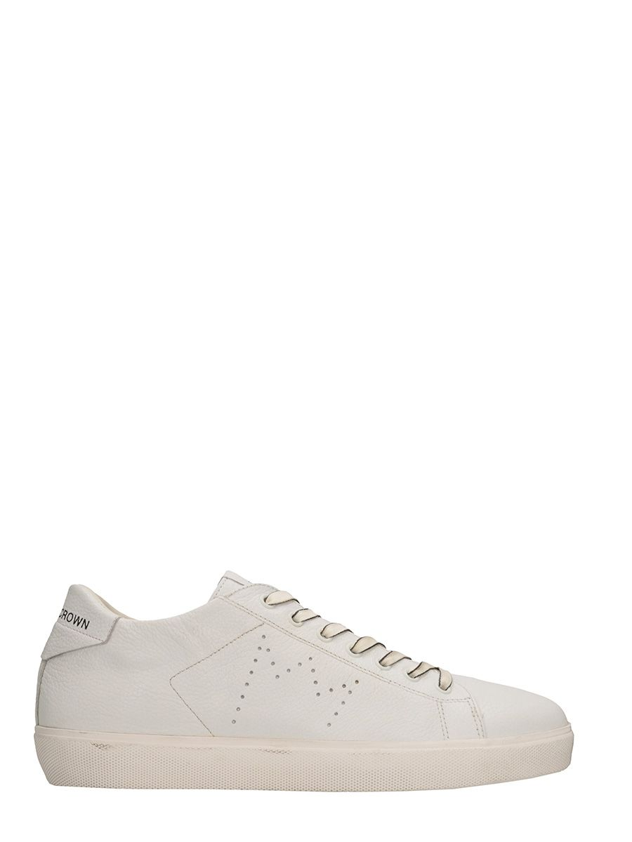 Leather Crown M Iconic White Leather Sneakers