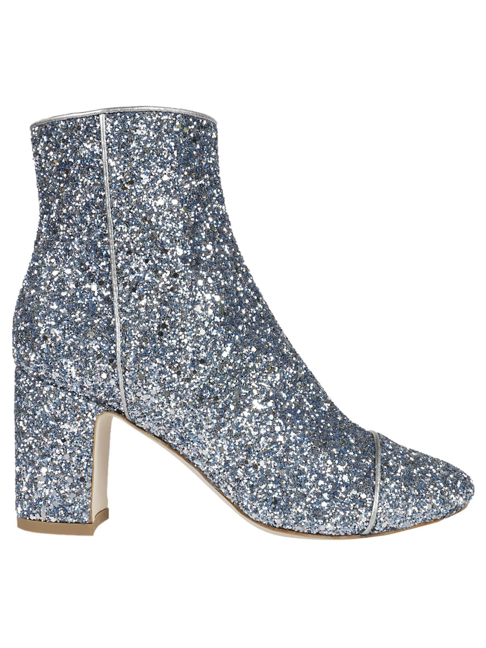 Polly Plume Ally Sparkling Sequin Ankle Boots
