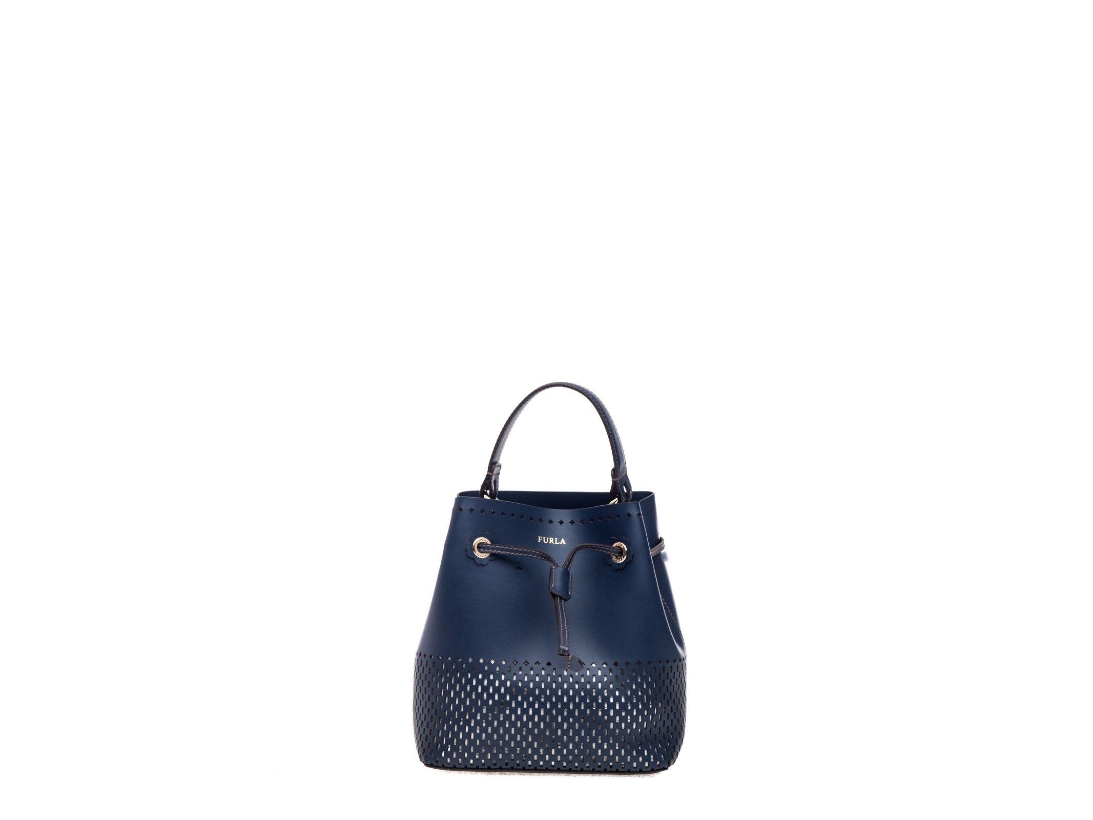 Furla Stacy Bucket Bag Blue