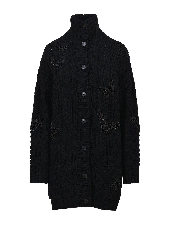 Valentino Long Wool Cardigan