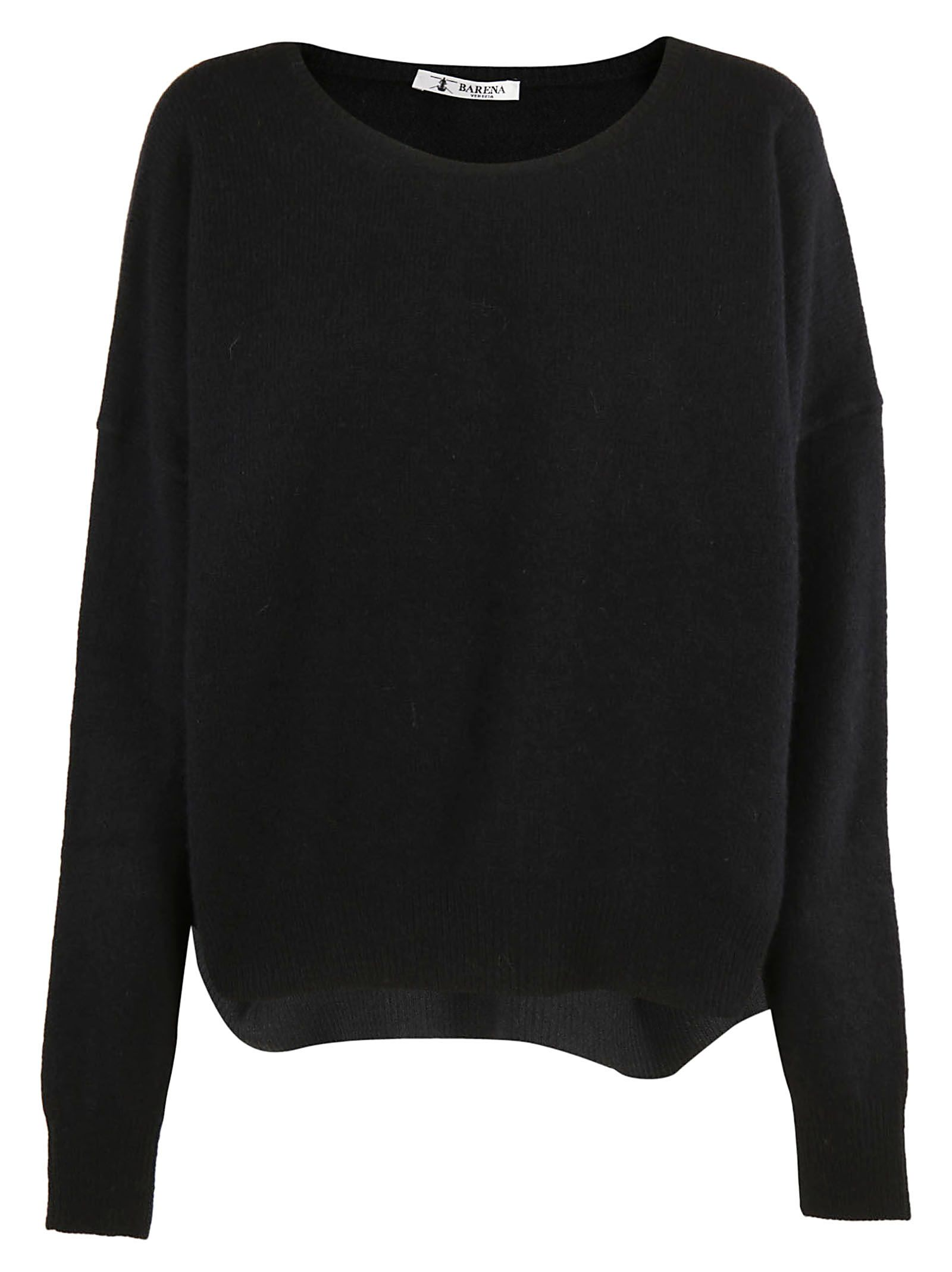 Barena - Barena Round Neck Baggy Sweater - Black, Women's Sweaters ...