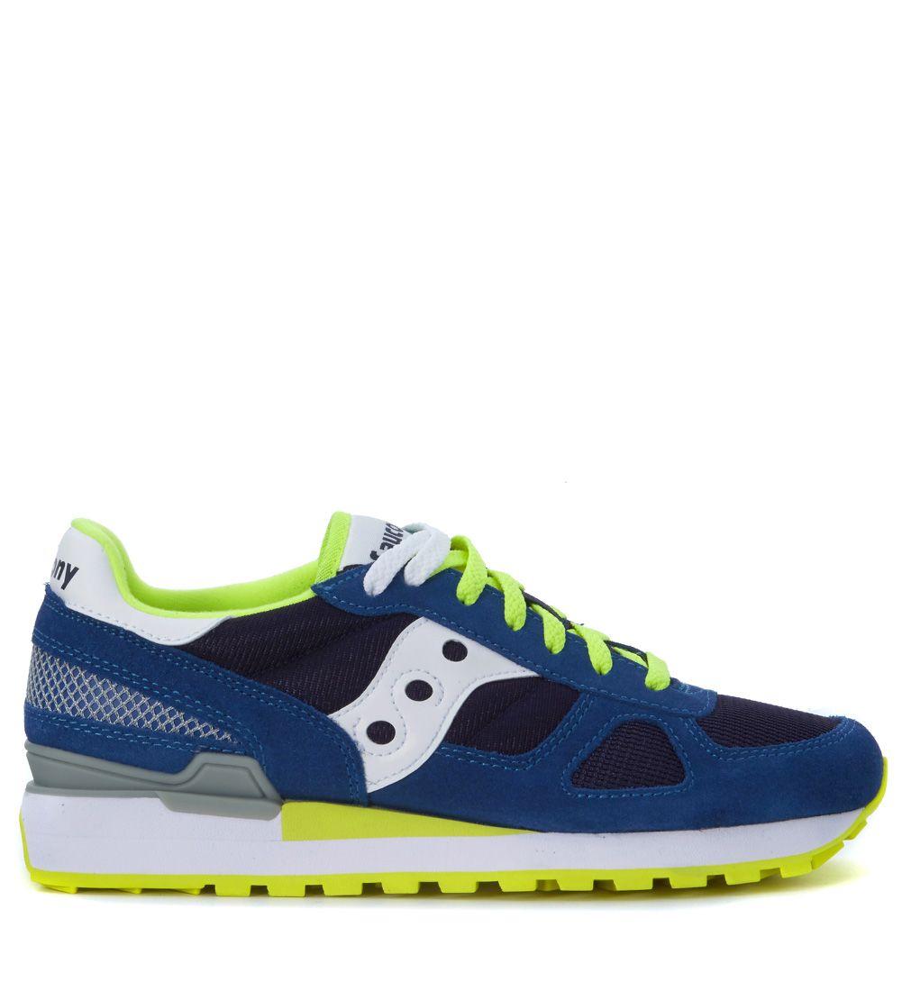 Sneaker Saucony Shadow In Suede Blu Royal