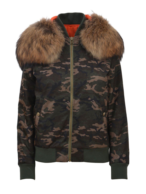 Mr & Mrs Italy Fur Camo Jacket