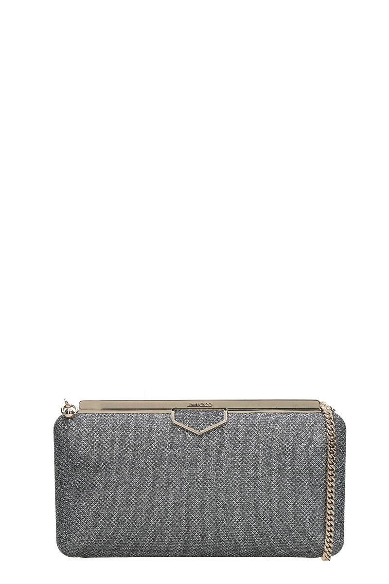 Jimmy Choo Ellipse Lam? Clutch Bag In Champagne Glitter Fabric