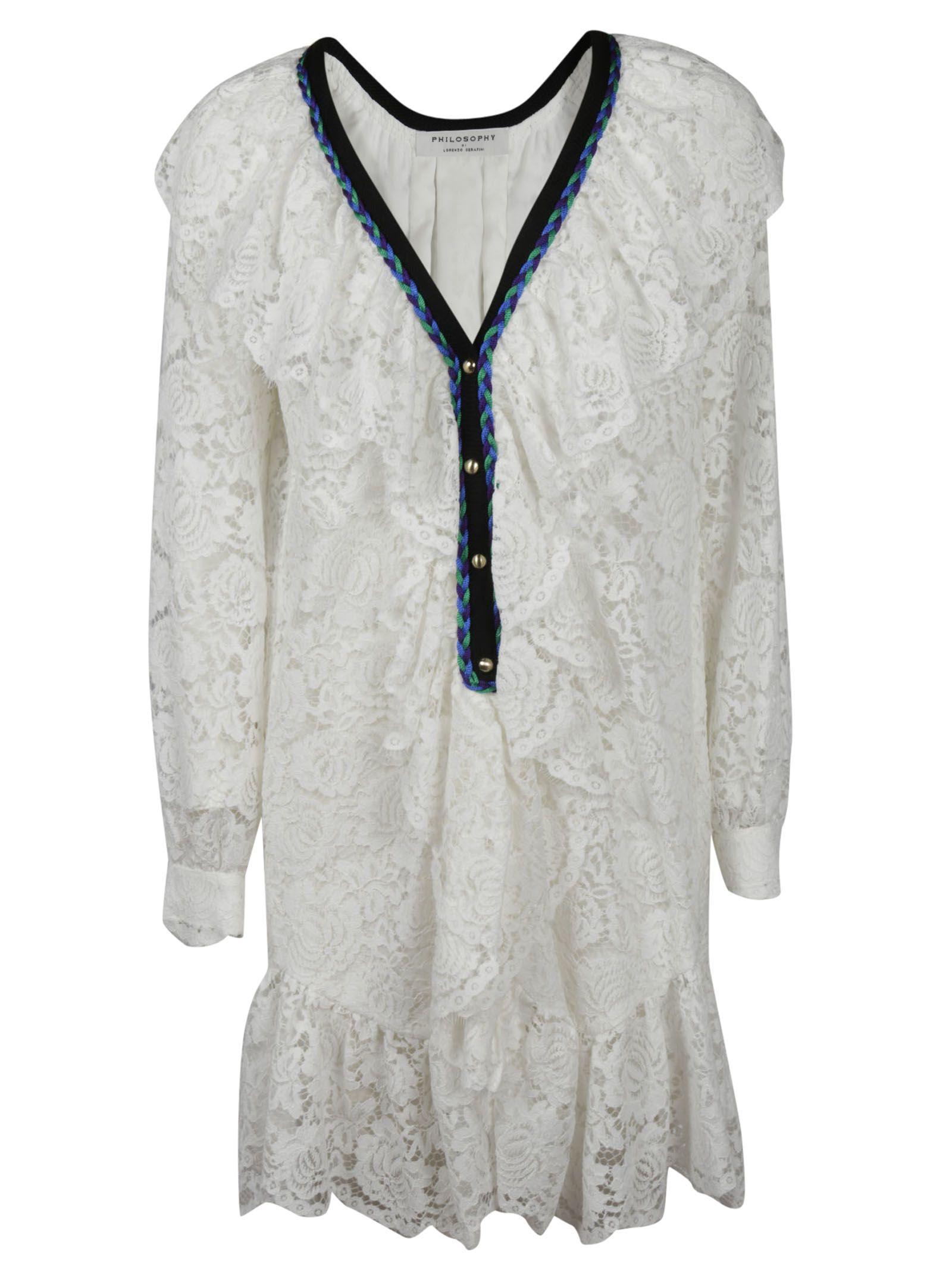 Philosophy Di Lorenzo Serafini Plunge Neck Lace Dress