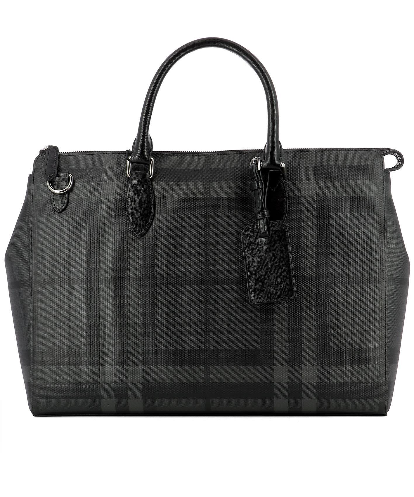 Burberry Pvcs BLACK PVC HANDLE BAG