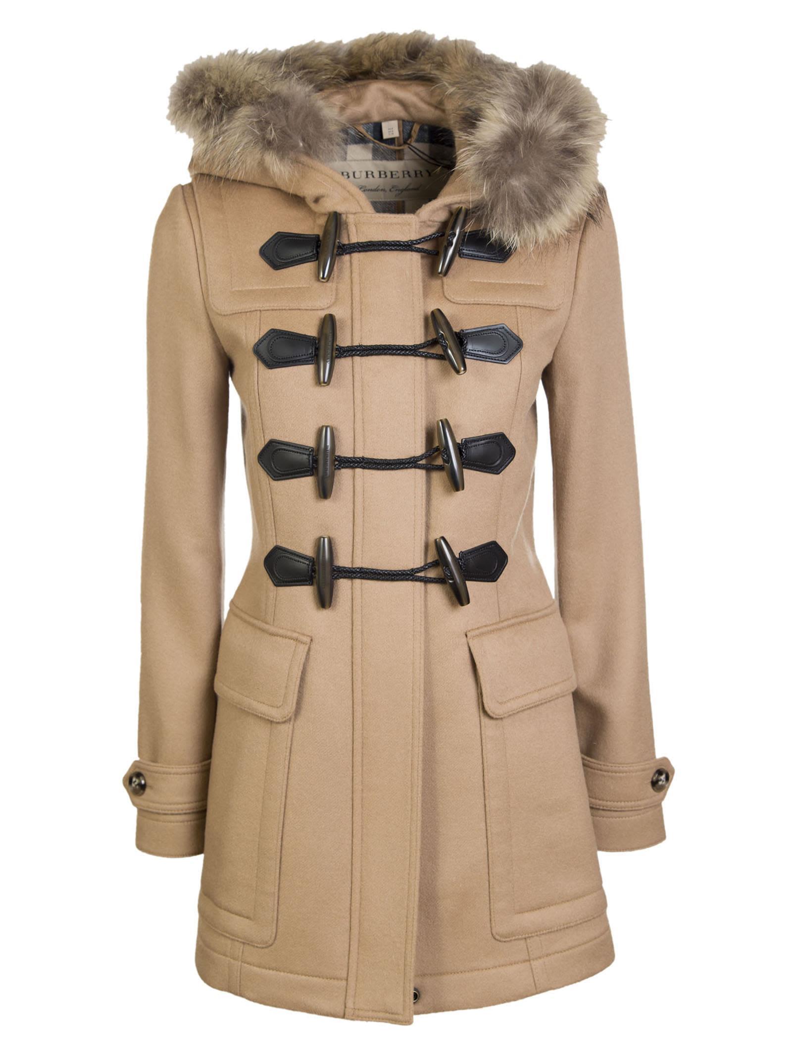 Burberry Trimmed Hood Duffle Coat