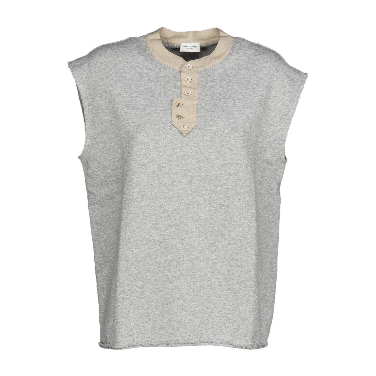 Saint Laurent Sleeveless Sweatshirt