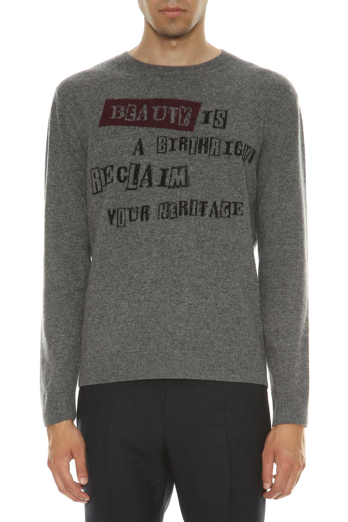 Valentino Valentino Knitted Sweater With Writings