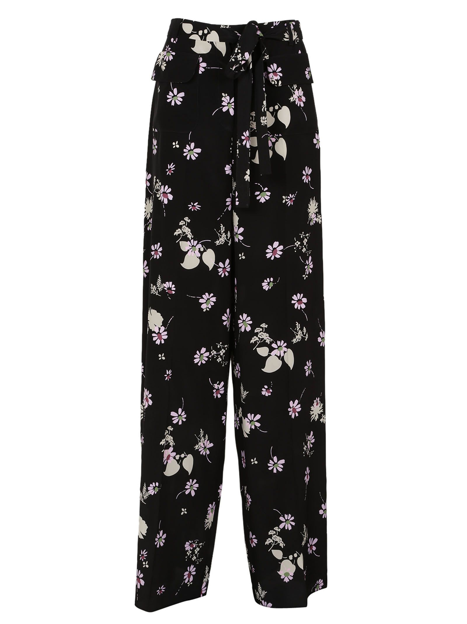 Valentino Silks WIDE FLORAL TROUSERS