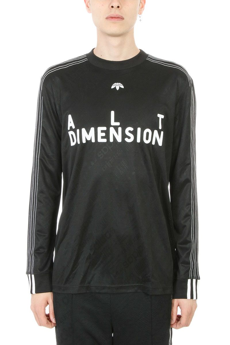 Adidas Original by Alexander Wang Soccer Black Viscose T-shirt