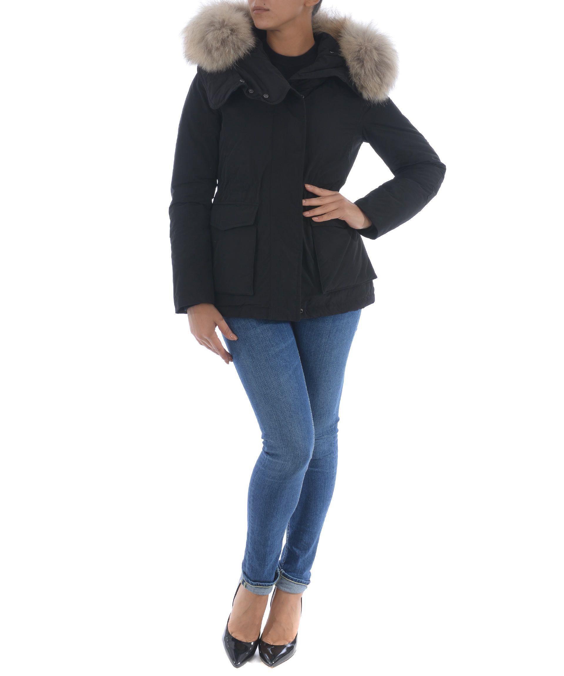 woolrich woolrich military parka nero women 39 s coats. Black Bedroom Furniture Sets. Home Design Ideas