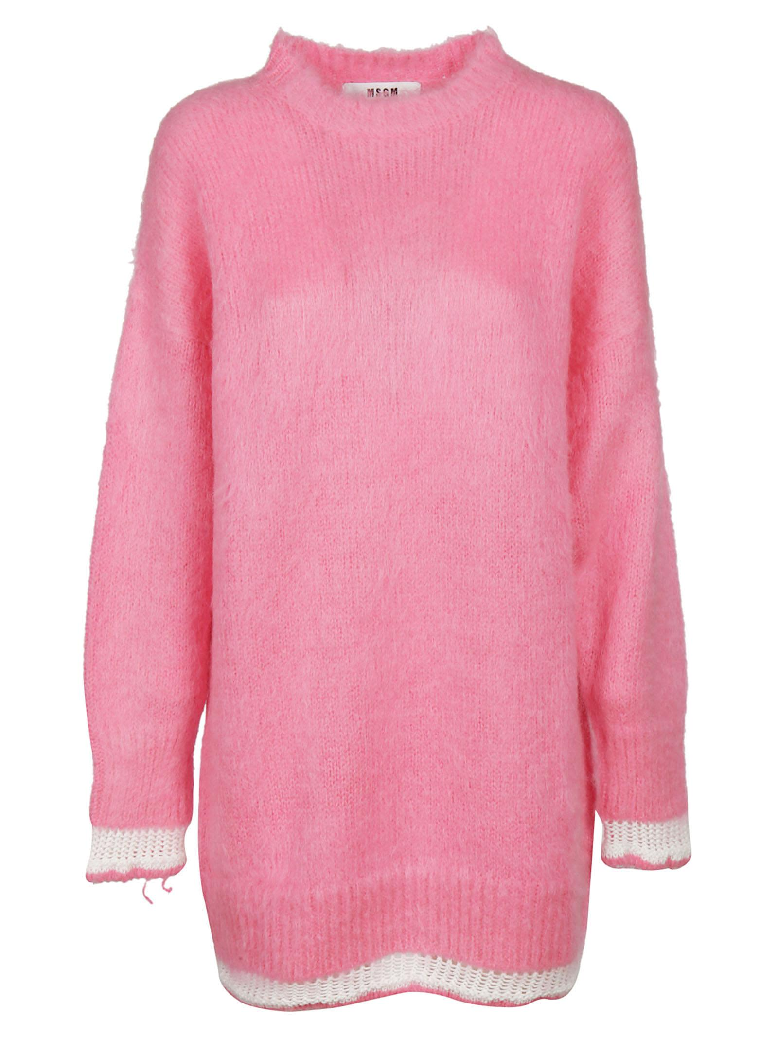 Msgm Long Mohair Sweater