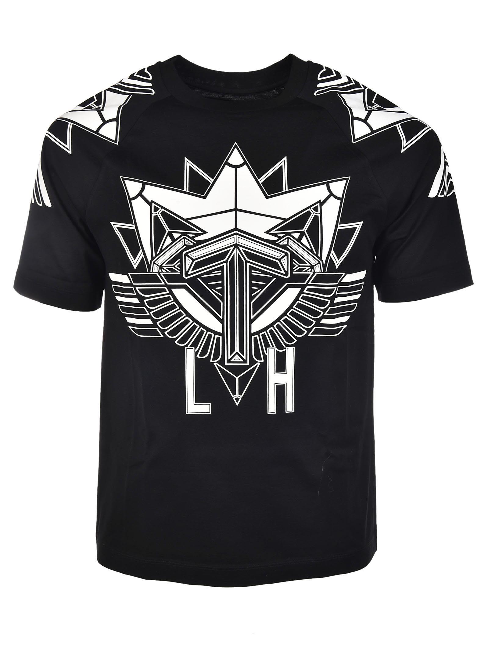 Les Hommes Air Force Print T-shirt