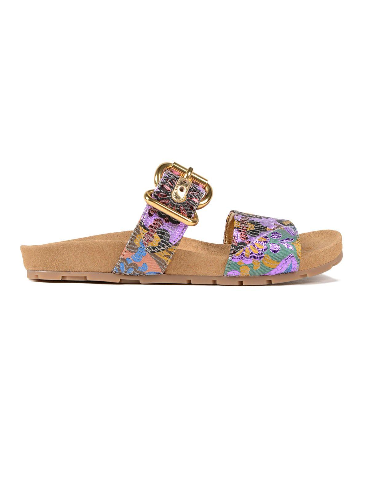 Prada Lurex Patch Sandal 15mm