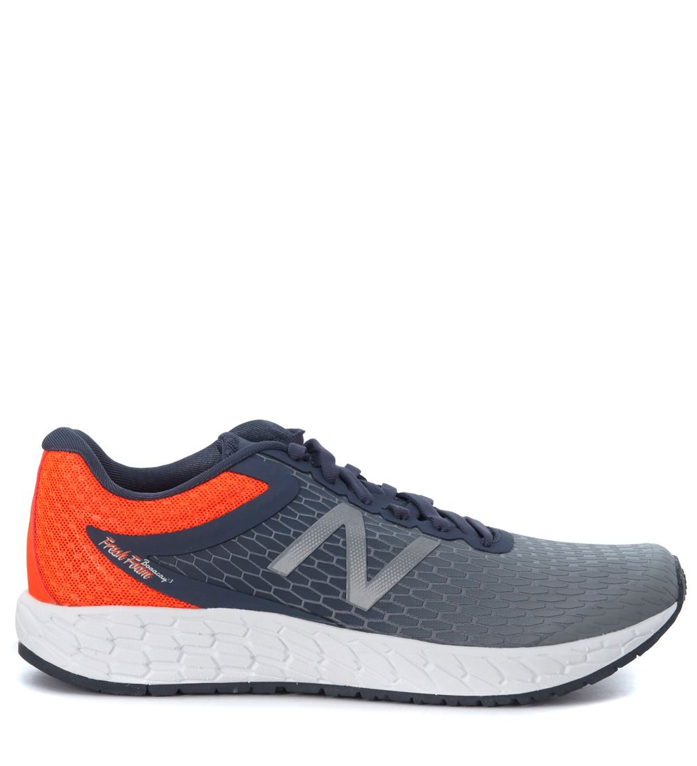 New Balance Fresh Foam Boracay V3 Running Sneaker In Grey And Orange Mesh Fabric 3d