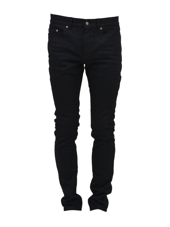 Saint Laurent Ripped Black Jeans