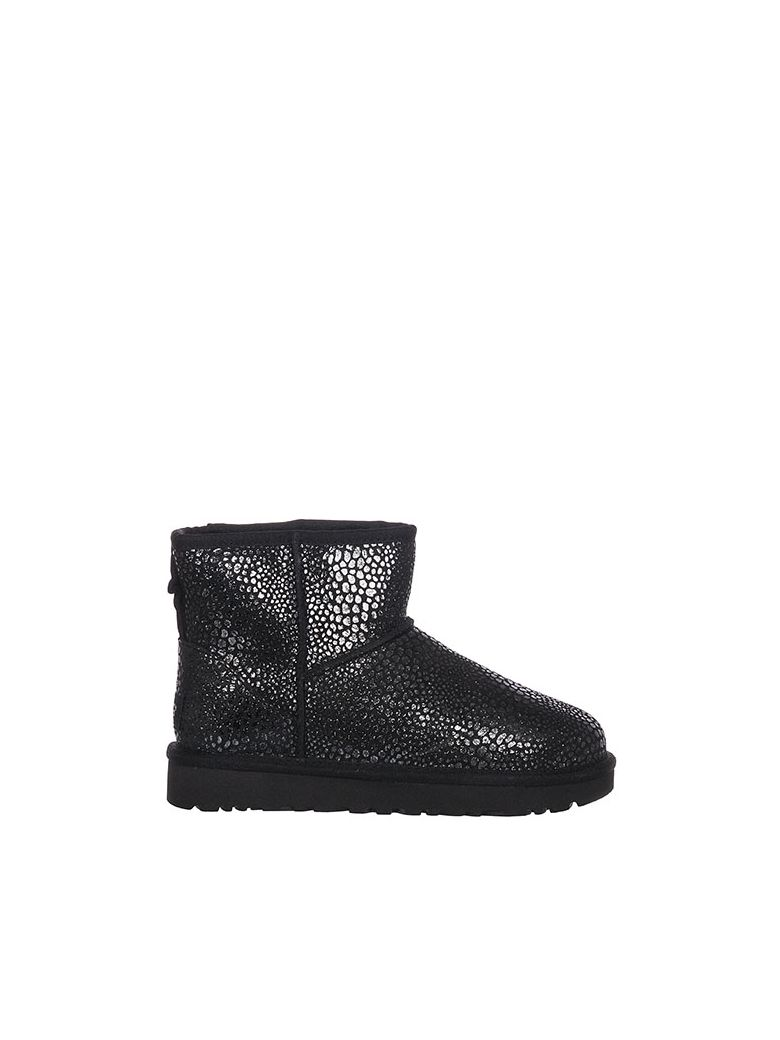 d65b751a934 Ugg Classic Mini Glitzy Ankle Boots in Black
