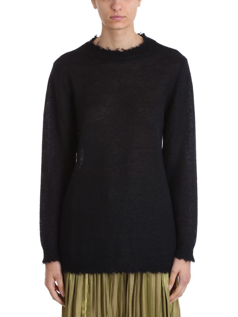 OVERSIZED LONGLINE KNIT TOP