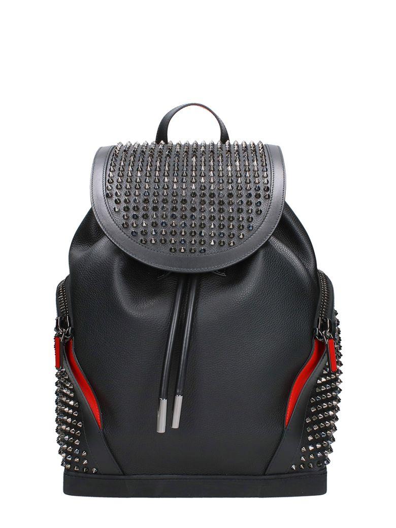 Christian Louboutin Explorafunk Black Leather Backpack - black