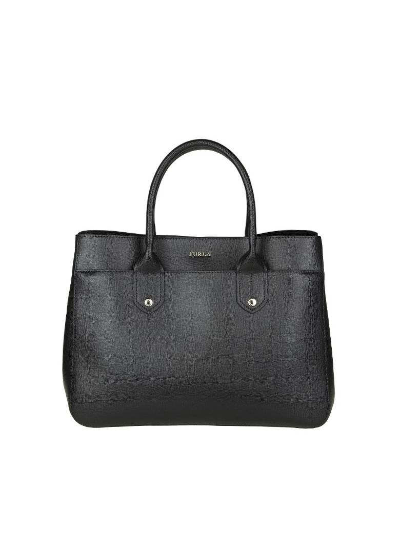 Furla Shoulder Bag for Women On Sale, Metropolis S, Black, Leather, 2017, one size