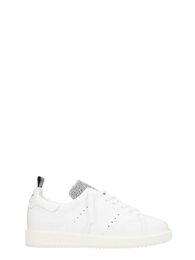 STARTER WHITE LEATHER SNEAKERS