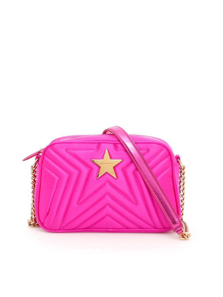 a1abe7c62f Stella Mccartney Quilted Satin Stella Star Bag In Bright Fuxia