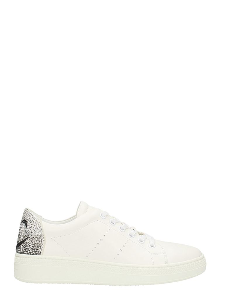 SMILE STRASS EMBELLISHED SNEAKERS