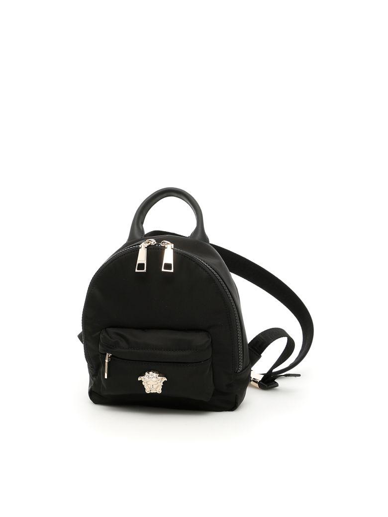 11e9c9c942 Versace Nylon Palazzo Mini Backpack In Nero-Oro Chiaronero ...