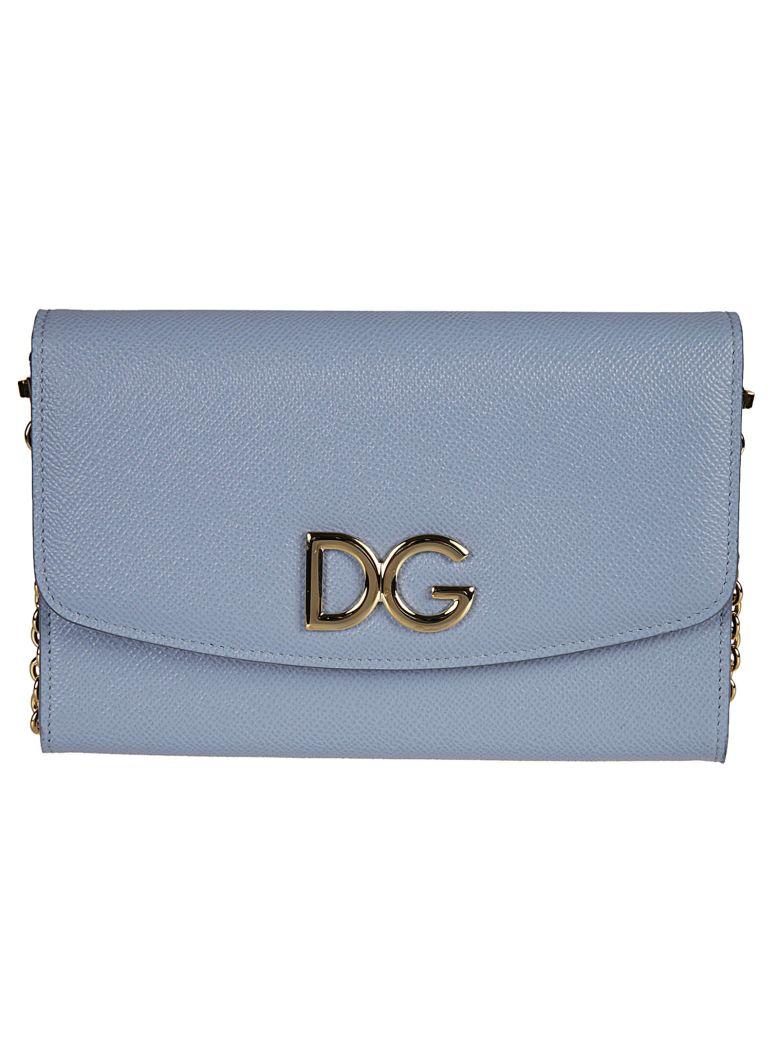 foldover logo clutch bag - Blue Dolce & Gabbana Free Shipping Cheapest Price 6E7pxv6Y7